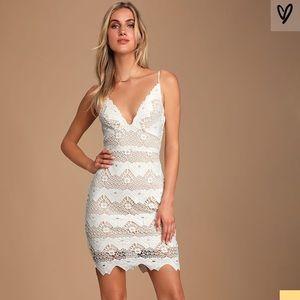 Lulu's Sway Away White Crochet Lace Dress